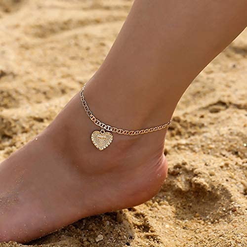 IEFSHINY Ankle Bracelets for Women Initial Anklet