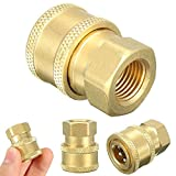 VT BigHome 1/4'' Garden Pressure Washer Hose Connector Adaptor Faucets Washing Machine Sprayer Connect Fitting Pipe To 1/4 Female