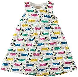 Kids Girls Cotton Cartoon Print Sleeveless Summer Dress