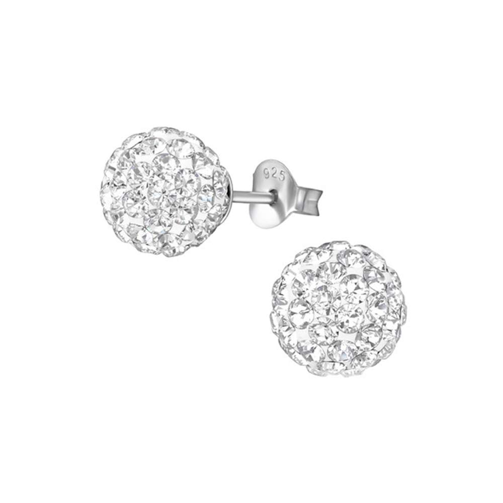 136 Sparking Ear Studs 925 Sterling Silver Nb Of Crystal Stones