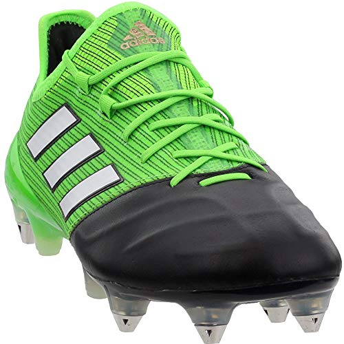 adidas Mens Ace 17.1 Leather Soft Ground Soccer Athletic Cleats Green ()