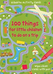 100 Things for Little Children to Do on A TripGreat write on/wipe off activity cards in a handy box, marker included. Fun cards that are age appropriate and loads of fun. Many of the cards can be reused in different ways which keeps the game ...