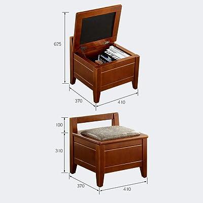 TT&D GBXX Moda Creativa Muebles pequeños Taburete Antideslizante Banco pequeño Sala de Estar en casa Taburete Redondo de Madera Maciza Reposapiés de múltiples tamaños Hogar Creativo: Hogar
