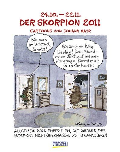 Der Skorpion im Jahr 2011: Cartoon-Kalender