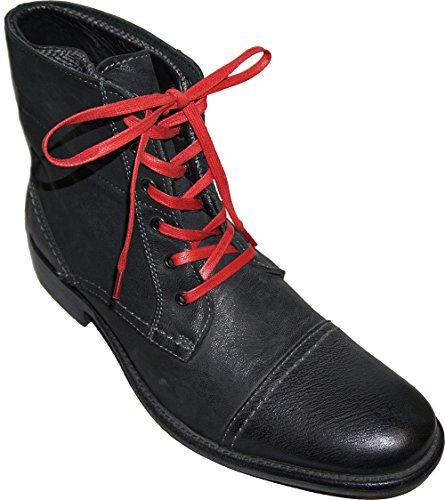 Shoeslulu 20-50 Premium Flat Waxed Cotton Bootlaces Shoelaces Firebird Red PXb3xV