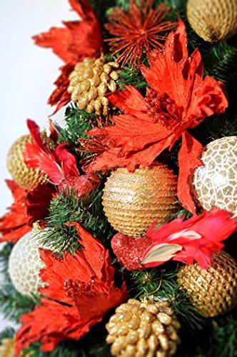 DecoKing Albero di Natale 220 cm Artificiale Abete di Decorazione Base Plastica Festa di Natale Verde Lena 2 spesavip