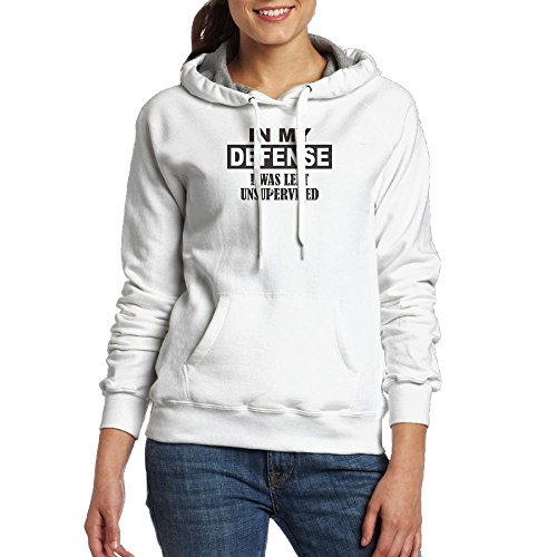 Cheap MamieJulia Defense I Was Left Unsupervised Fleece Pullover Hoodies Oversized Sweater Reg And Plus Size Sweatshirts for cheap