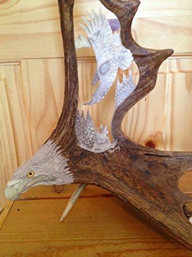 Antler Carving Banking Eagle