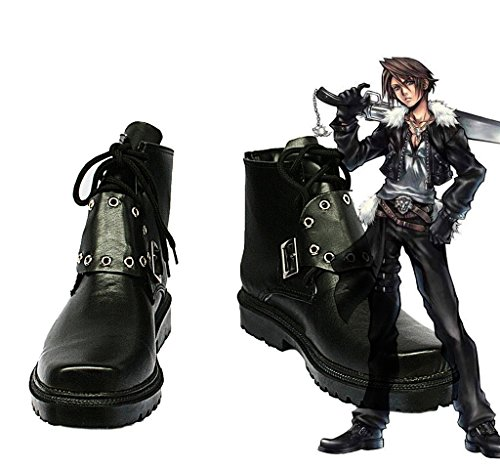 Squall Cosplay Costume (Final Fantasy VIII FF8 Squall Leonhart Cosplay Shoes Boots Custom Made)