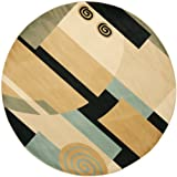 Safavieh Porcello Collection PRL6843-9091 Modern Abstract Art Black and Multi Round Area Rug (7′ Diameter) Review