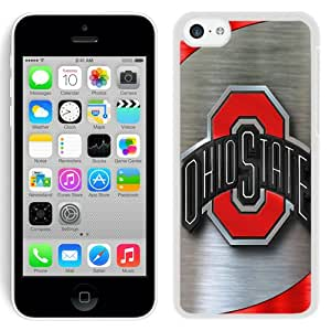 Fashionable iPhone 5C Case ,Unique And Lovely Designed Case With Ncaa Big Ten Conference Football Ohio State Buckeyes 9 White iPhone 5C Cover Phone Case