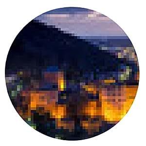 alfombrilla de ratón Heidelberg en la noche - ronda - 20cm
