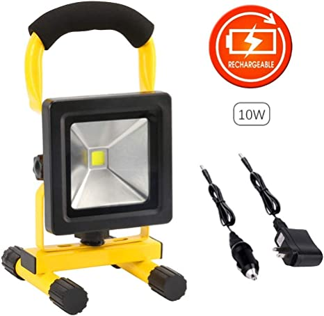 110v-240V Portable Car Rechargeable LED 50W Cordless Work Spot Light Flood Lamp