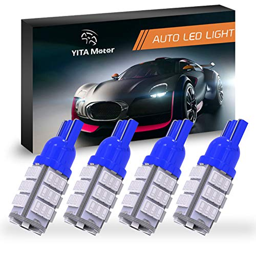 YITAMOTOR 4 X T10 42-SMD RV Trailer Car Backup Reverse Blue LED Light Bulb 194 912 906 168 192