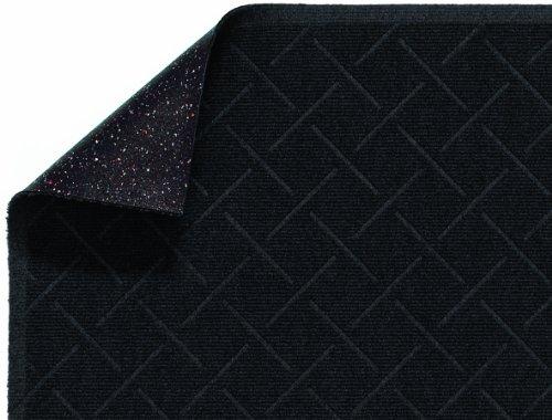 (M+A Matting 2202 Enviro Plus PET Polyester Fiber Diamond Weave Interior/Wiper Floor Mat, Crumb Rubber Backing, 8' Length x 3' Width, 1/4