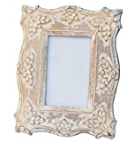 TODAY'S DEALS - White Photo Frame 4x6 Shabby Chic Decor Wooden Photo Frame 4x6 in Distressed Finish for Horizontal Vertical Pictures DOUBLE USE