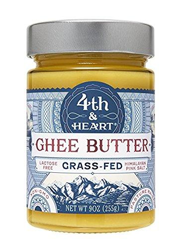 4th & Heart, Ghee Butter, Grass-Fed, Himalayan Pink Salt, 2Pack (9 oz (225 g) Each)