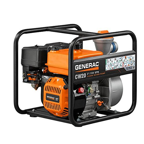 Generac 6918 CW20 2-Inch Clean Water Pump with Easy Prime