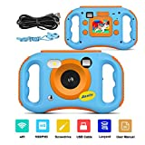 AMKOV WiFi Digital Camera for Kids Rechargeable Video Camera 1080P HD Digital Children Camcorders with 1.77'' LCD Screen, 7-Color Filter Effect, Flash and Mic for Girls/Boys-Blue 1