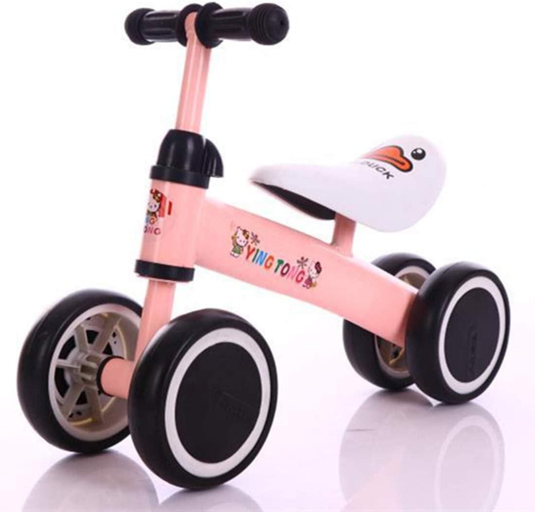 Bicicleta de equilibrio para niños de 1-3 años de edad, chrildren bicicletas para caminar sin pedales, cochecito y coche de juguete bebé, primer regalo de cumpleaños interior al aire libre ,Pink