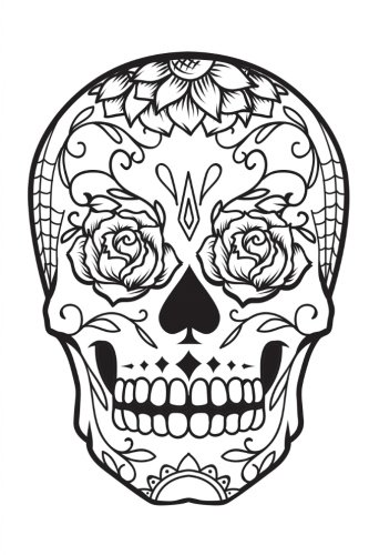 Color My Cover Halloween Journal - Rose Skull: 100 page 6