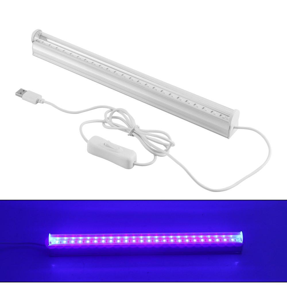 abedoe USBポータブル6 W LED UVライトバーAir Fresh殺菌ランプ殺菌紫外線ランプ395 – 400 NM for DJパーティー、バスルーム、キッチン、トイレ、寝室、AC 100 – 265 V B076Y88MR6 14997