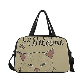 Amazon.com: Bolsas de yoga con diseño de gato con palabras ...