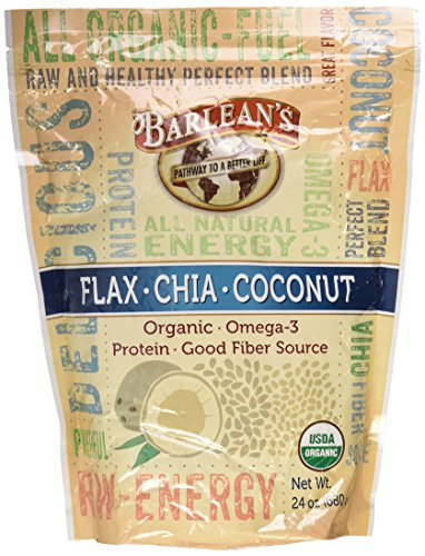Barlean's Flax Chia Coconut Blend 24 oz (Chia Seeds And Coconut Oil For Energy)