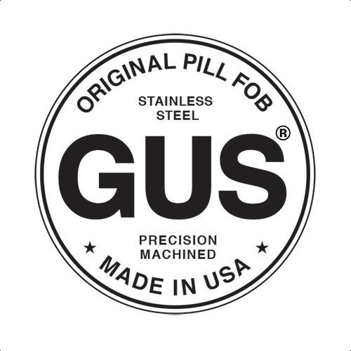 Gus Made Mini Pill Fob Stainless Steel Keychain Pill Holder