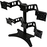 DoubleSight Quad Monitor Flex Stand Fully Adjustable Height Tilt Pivot Free Standing, VESA 75mm/100mm, up to 24 Monitors by DoubleSight Displays