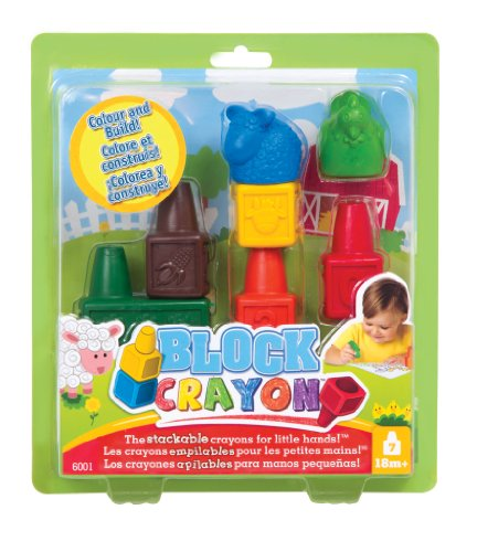 Style Me Up Wooky 6001 Block Crayon Farm Set (7 Pieces)