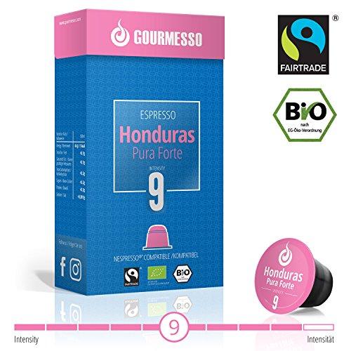 Gourmesso Honduras Pura Gift - 30 Nespresso Compatible Coffee Capsules - Organic and Fair Trade