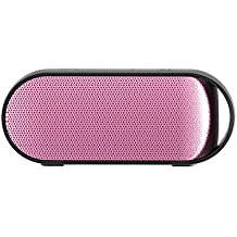 Simpiz Bluetooth 4.0 Portable Wireless Speaker NFC Water Resistant with YAMAHA DSP Built in Mic for Hands Free Calling, 10W 10m 10hr Playtime Battery for iPhone, iPad, Samsung, MP3, laptop, PC (Pink)