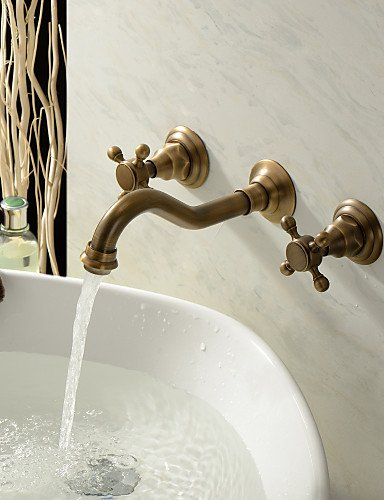 Waschbecken Wasserhahn in Antike inspiriert entworfen (Messing poliert Finish)