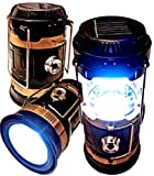 BRILLIANT AND MO Ultra Bright 5 SMD LED Collapsible Solar Lantern Portable Lightweight Water-Resistant USB Rechargeable Solar Camping Lantern Emergency Light (1)