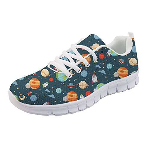Sneakers Planet Shoes Tennis Planet Print Running Cartoon Lightweight 1 IDEA HUGS qOZgYY