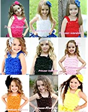 Colorful Ruffles Tank Top Pettitop for Pettiskirt 1-8Y