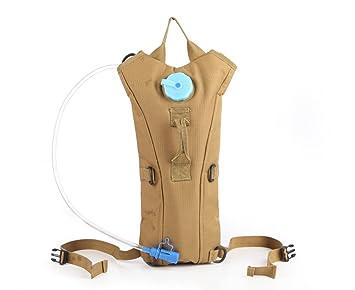 aogolouk 3 L Bolsa de agua mochila de senderismo Camelback Nylon Camuflaje Mochila de hidratación, canela: Amazon.es: Deportes y aire libre
