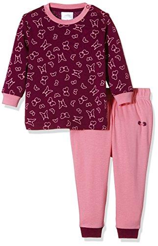 Twins Baby-Mädchen Zweiteiliger Schlafanzug mit Schmetterling Druck, Violett (Purple Potion 820103), 98
