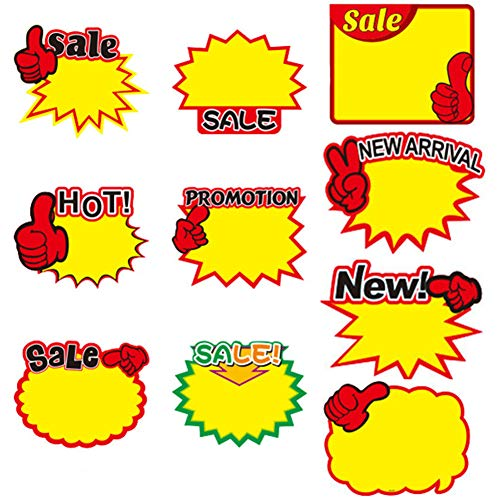 Starburst Signs - Brostown 30 Pack Retail Price Burst Star Paper Lables 10 Assorted Display Tags 7.5 x 9.85 Inches