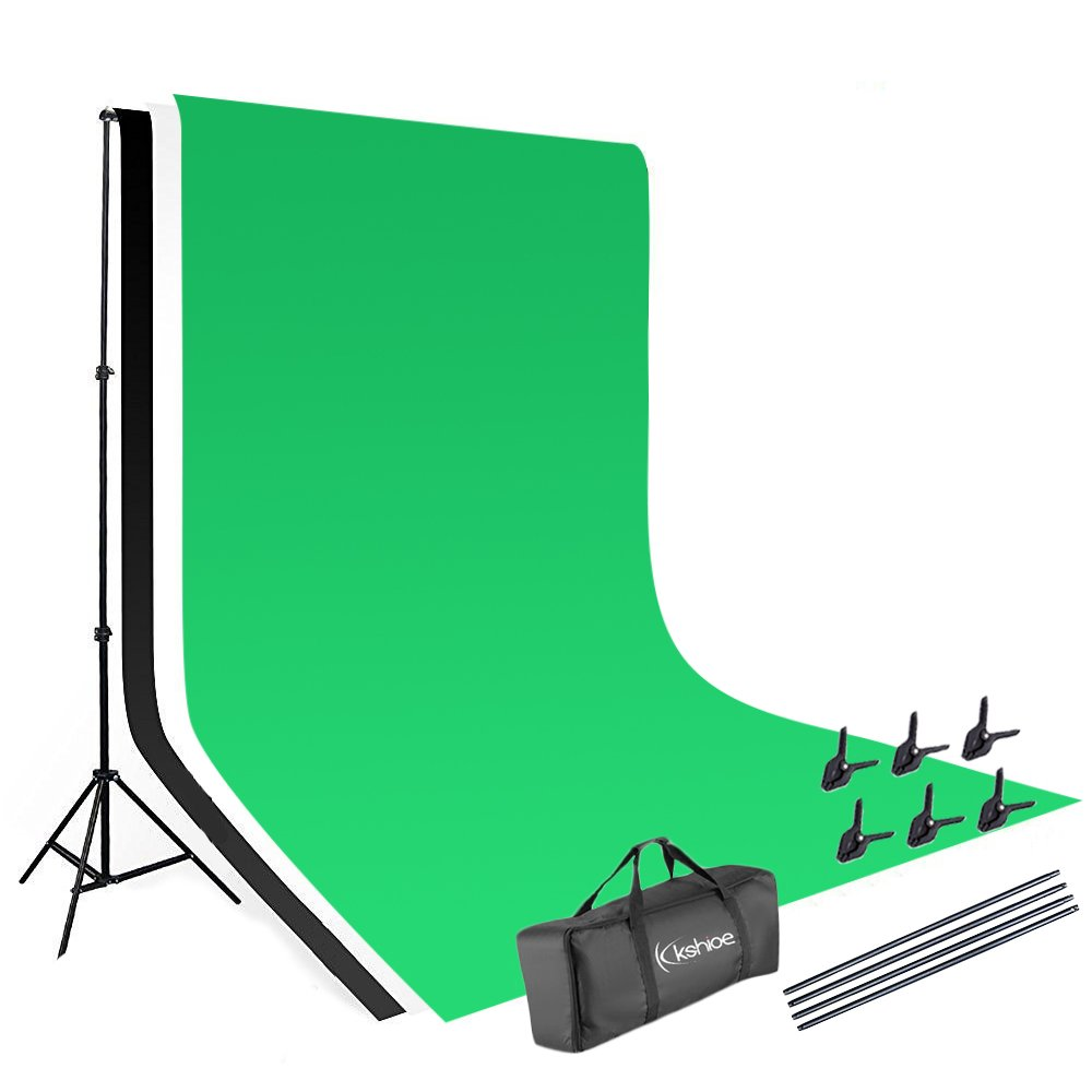 Kshioe Background Support System for Photography Lighting Kit, Non-woven Fabrics 1.63m Photography Background Backdrop, 23m Background Support Stand kit by Kshioe