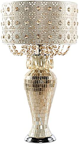 River of Goods 15567S Jeweled Metal and Mosaic Base Table Lamp