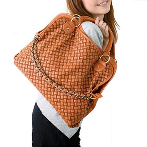 Woven Leather Handbags - 9