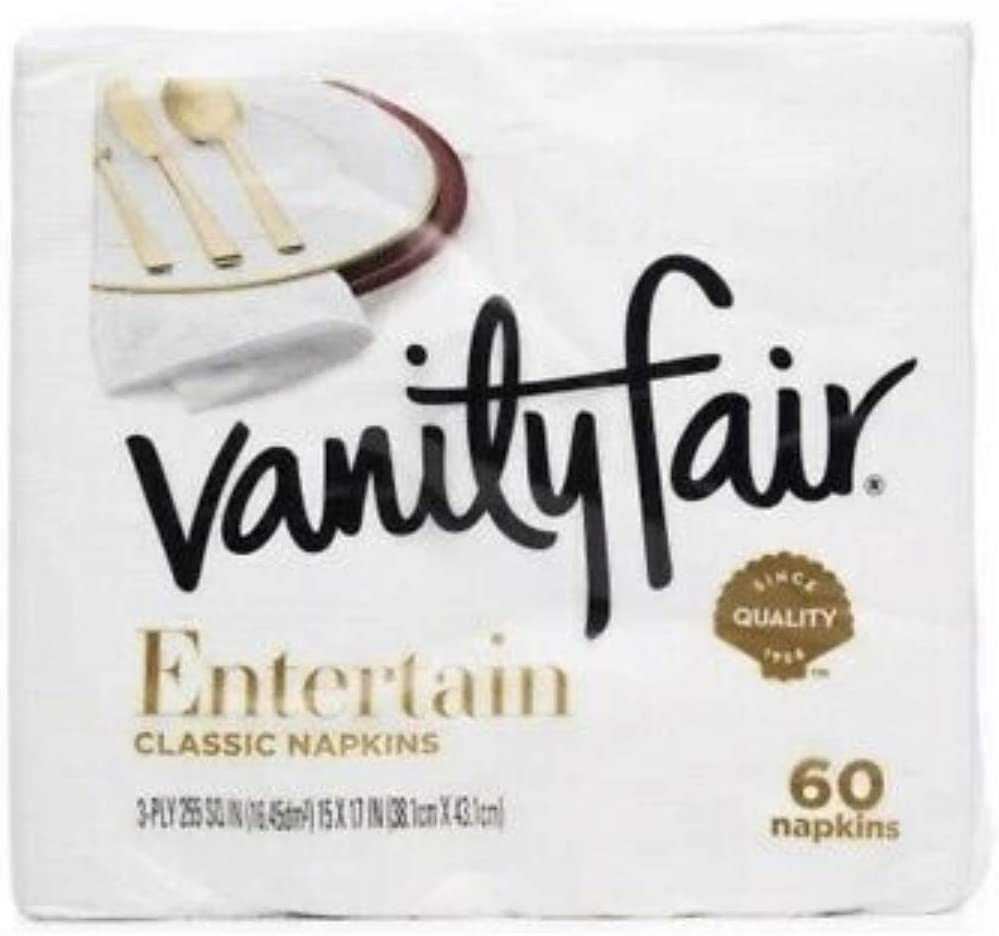 Vanity Fair Impressions 3-ply Napkins, 60 Count, Pack of 2