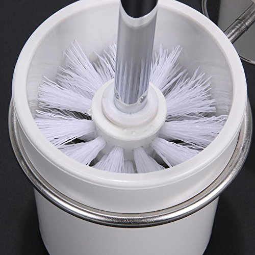 Stainless Steel Bathroom Toilet Brush Holder Set Suction Hooks Toilet Brush Head Holders Cleaner Bathroom Accessories