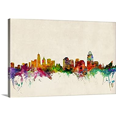 Michael Tompsett Premium Thick-Wrap Canvas Wall Art Print entitled Cincinnati Ohio Skyline