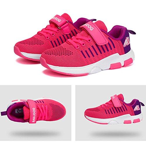 KVbaby Kinder Sneaker Hallenschuhe Laufschuhe Outdoor Leicht Turnschuhe für Jungen Mädchen Pink