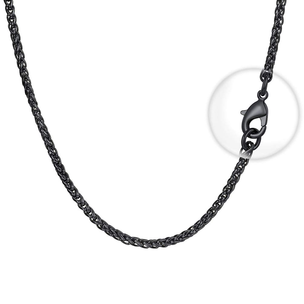 FaithHeart Wheat Chain Stainless Steel Solid Necklace