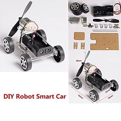 INSMA MINI 4-wheel Windmilling DIY Robot Smart Car Chassis Kits Car Model and Battery Box