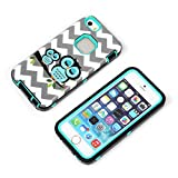 iPhone 5/5s Case, Lantier Cute Owls Pattern 3 In 1 Case High Impact Tough Rugged Soft TPU Ultra Protective Back Rubber Cover with Heavy Duty Skin Armor Combo Defender Case Mint Green